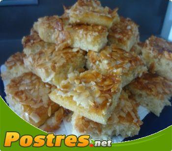 preparación de Postre de Tarta de almendras