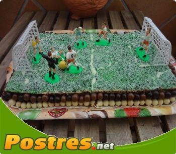 preparación de Postre de Tarta campo de futbol
