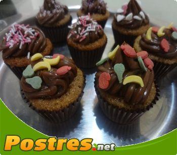 preparación de Postre de Cupcakes de chocolate y naranja