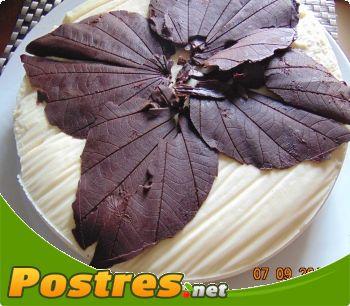 preparación de Postre de Tarta de otoño dos chocolates