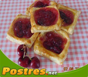 preparación de Postre de Tartaletas con cerezas