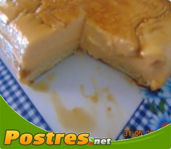 preparación de Postre de Flan de queso rápido