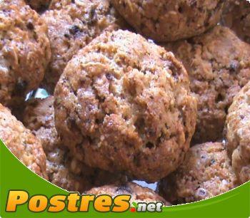 preparación de Postre de Galletas integrales de avena y chocolate