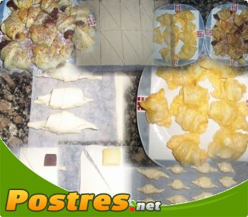 preparación de Postre de Croissants
