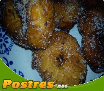 preparación de Postre de Roscos de boniatos.