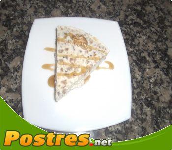 preparación de Postre de Tarta helada de queso de cabra y nueces