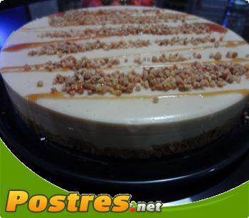receta Tarta de turr�n y almendras crocanti