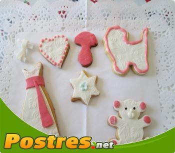 preparación de Postre de Decorar galletas con fondant