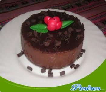 preparación de Postre de Pudin de chocolate en el microondas
