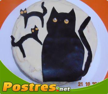 preparación de Postre de Tarta de halloween