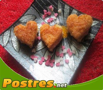 preparación de Postre de Corazoncitos para San Valentín