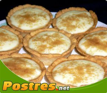 preparación de Postre de Tartaletas rellenas de natillas caseras