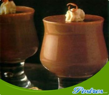 preparación de Postre de Mousse de nueces y chocolate