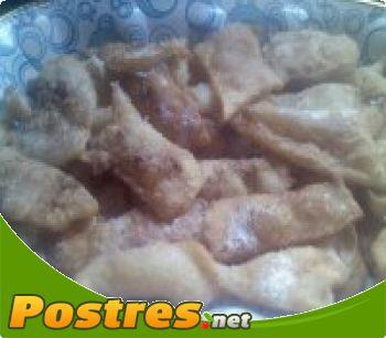 preparación de Postre de Tortitas de nata frita