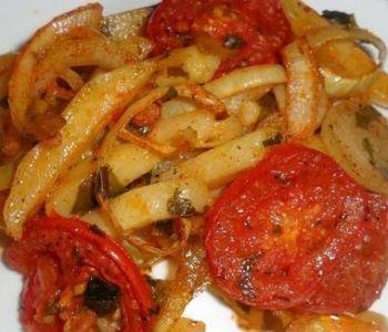 preparación de Patatas al horno con verduras light