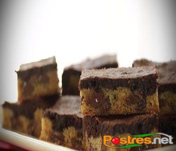 preparación de Postre de Brownie de Cookies