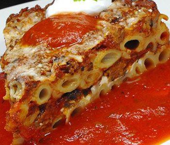 preparación de Receta de Tortiglioni al horno