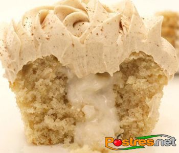 preparación de Postre de Cupcake de Arroz con Leche