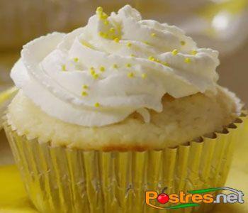 preparación de Postre de Cupcakes de Limón