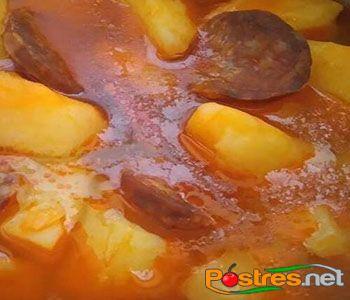 preparación de Receta de Patatas a la Riojana